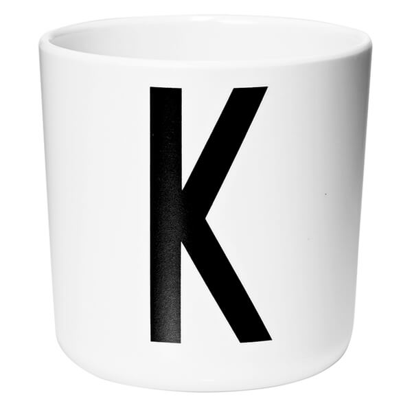 Design Letters Kids' Collection Melamin Cup - White - K