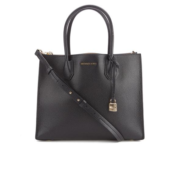 MICHAEL MICHAEL KORS Women's Mercer Large Messenger Tote Bag - Black