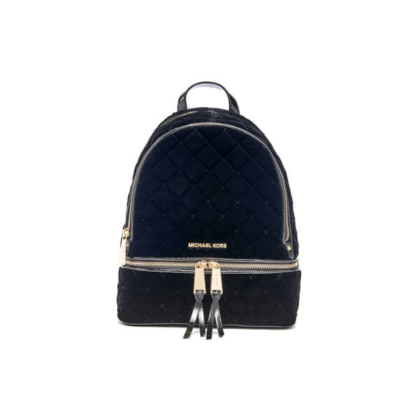 MICHAEL MICHAEL KORS Women's Rhea Mid Velvet Backpack - Black