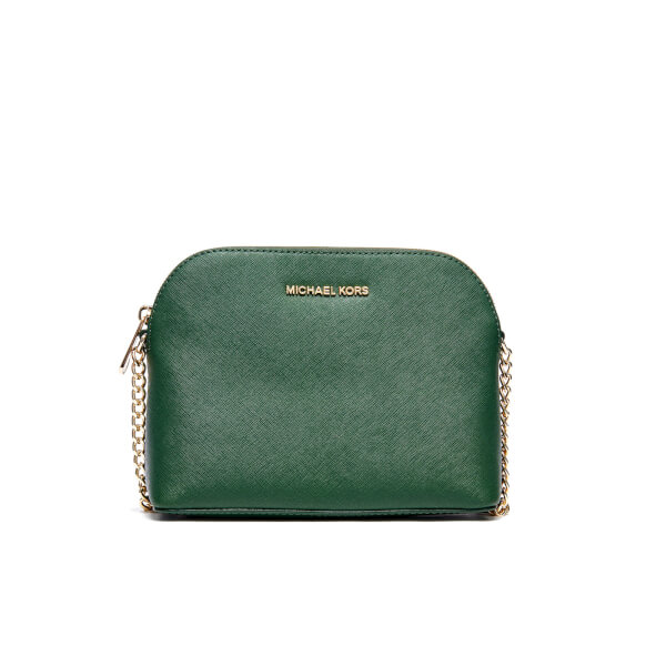 7ebdcd6063f46d MICHAEL MICHAEL KORS Women's Cindy Large Dome Cross Body Bag - Moss: Image 1