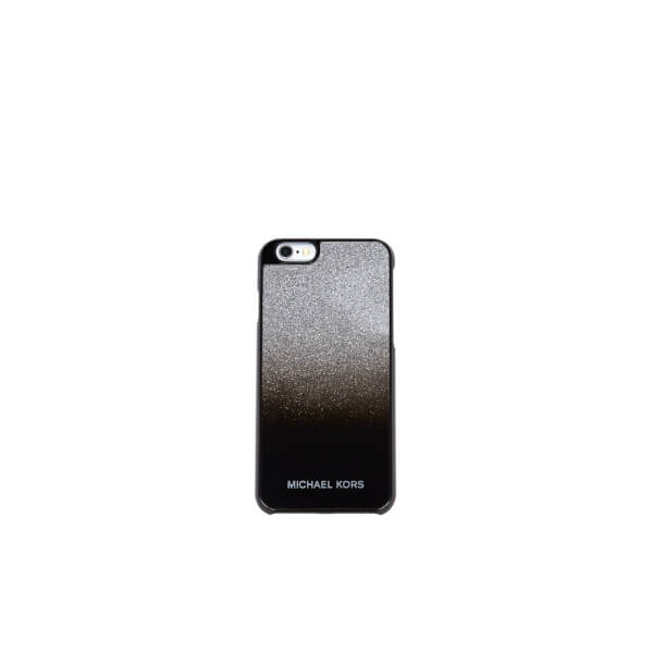 page home michael michael kors women 39 s glitter iphone 6 cover silver. Black Bedroom Furniture Sets. Home Design Ideas