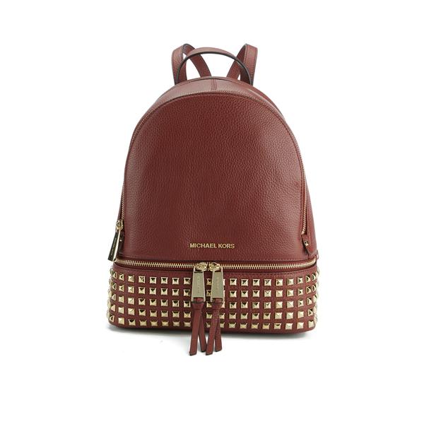 MICHAEL MICHAEL KORS Women's Rhea Zip Mid Stud Backpack - Brick