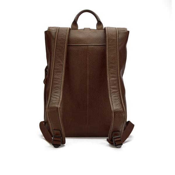 ted baker men 39 s earth leather backpack dark tan. Black Bedroom Furniture Sets. Home Design Ideas