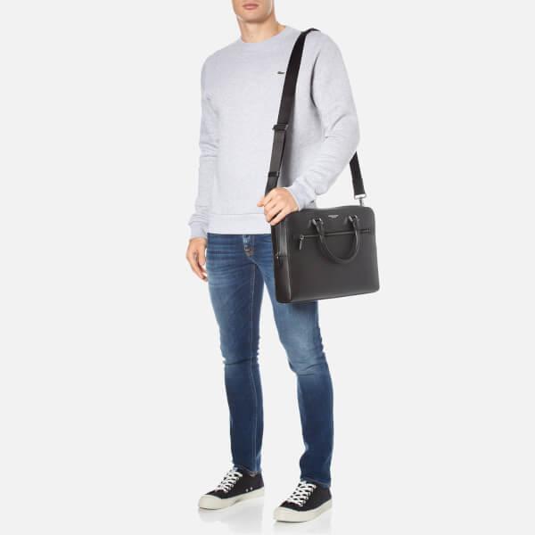 48345aa54ee6 Michael Kors Men s Harrison Medium Front Zip Briefcase - Black  Image 2