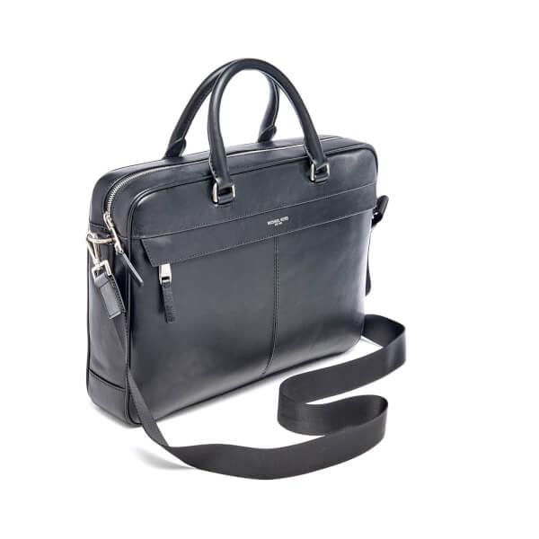 57fc5044daf7 Michael Kors Men s Owen Large Briefcase - Black  Image 2