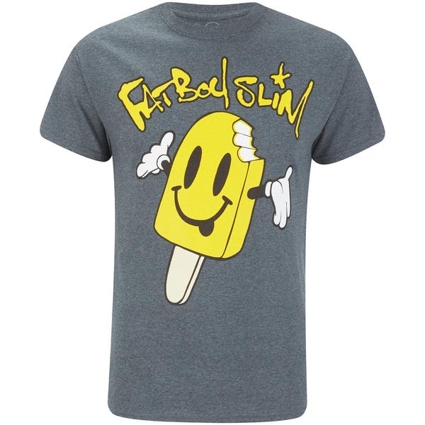T-Shirt Homme Fat Boy Slim Ice Lolly - Foncé et Chiné