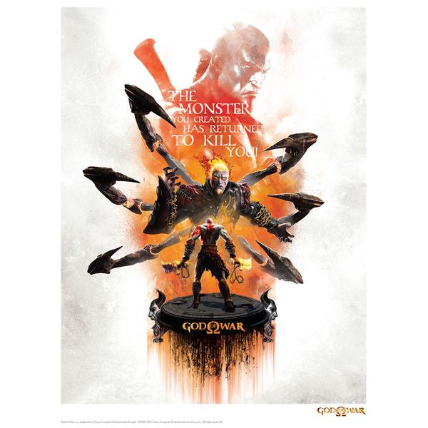 God Of War 'Monster' Art Print - 14 x 11