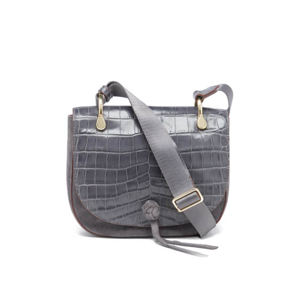 Elizabeth and James Women's Zoe Croc Saddle Bag - Puttey