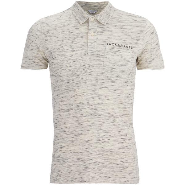 Jack & Jones Herren Core Barrett Polo Shirt - Weiß