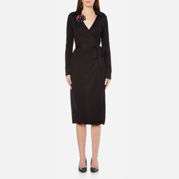 Diane von Furstenberg Women's Cybil Wrap Dress - Black