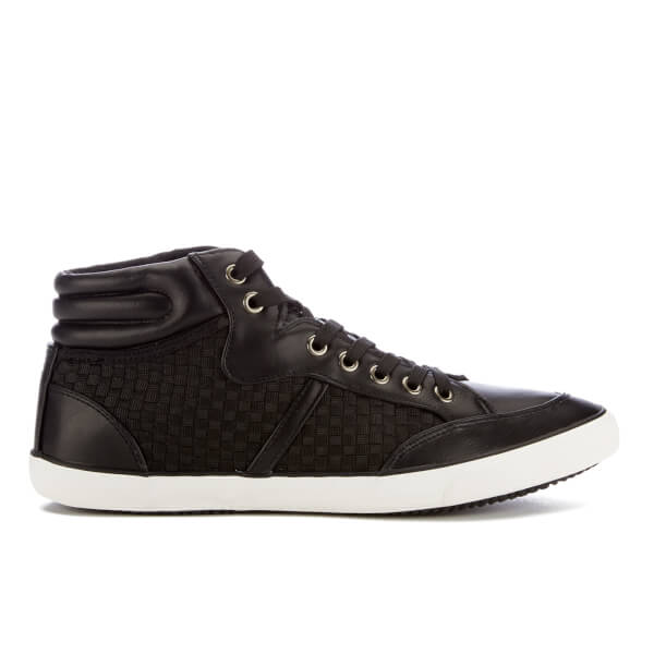 Brave Soul Men's Harry High Top Trainers - Black