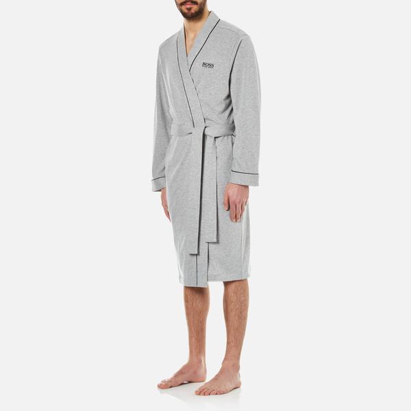 BOSS Hugo Boss Men\'s Kimono Dressing Gown - Medium Grey Mens ...