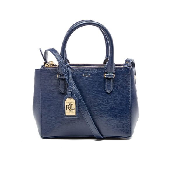 Lauren Ralph Women S Newbury Mini Zip Satchel Navy Image 1