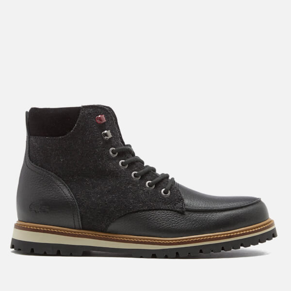 dc63bf454 Lacoste Men s Montbard 316 Lace Up Boots - Black  Image 1