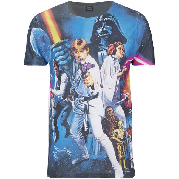 T-Shirt Homme Star Wars Affiche Classique - Noir
