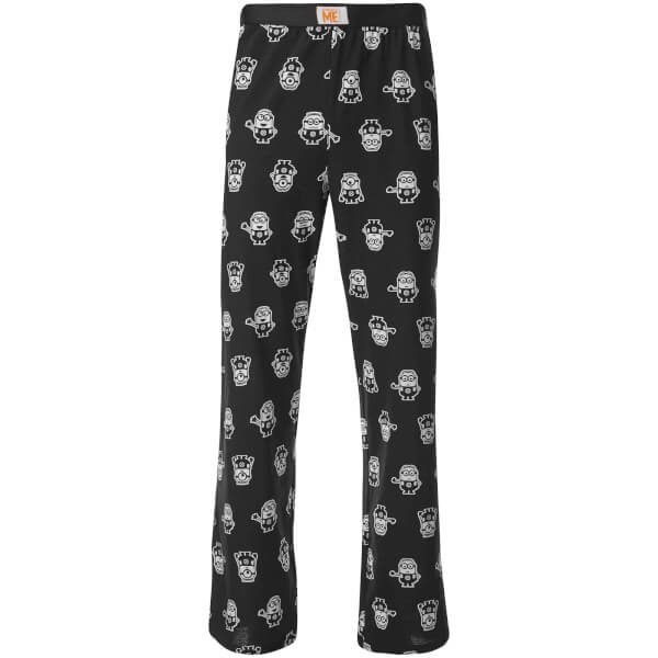Minions Men's Character Print Lounge Pants - Black