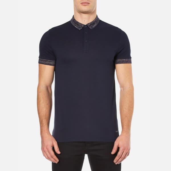 BOSS Orange Men's Pilipe Spacedye Polo Shirt - Dark Blue