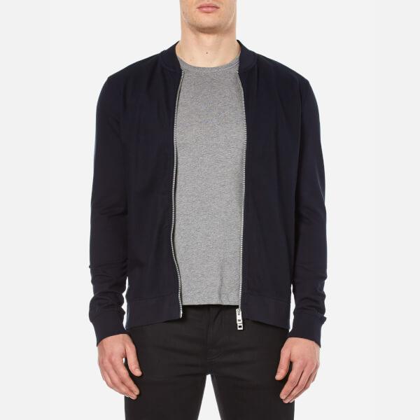 BOSS Orange Men's Ztripe Zipped Sweatshirt - Dark Blue