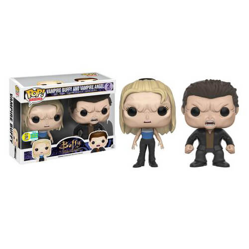 Buffy Vampire Buffy & Vampire Angel Pop! Vinyl Figures SDCC 2016 Exclusive