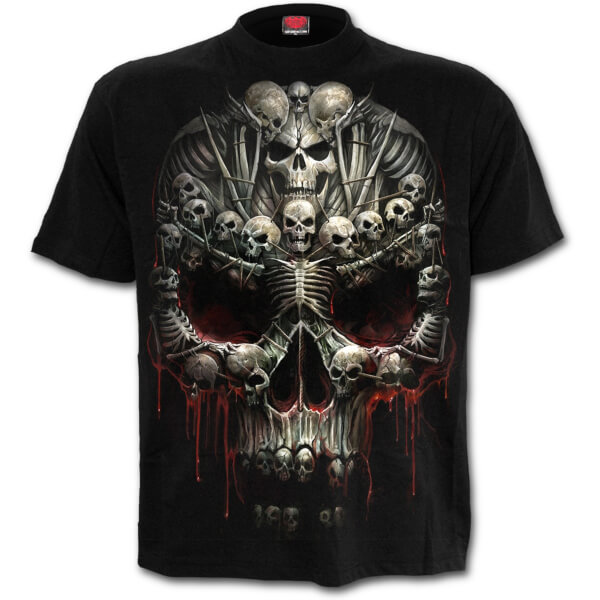 Spiral Men's DEATH BONES T-Shirt - Black