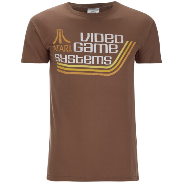 Atari Men's Atari Games Systems T-Shirt - Brown