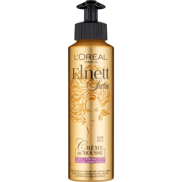 L'Oréal Paris Elnett Satin Strong Hold Curl Crème Mousse 200ml