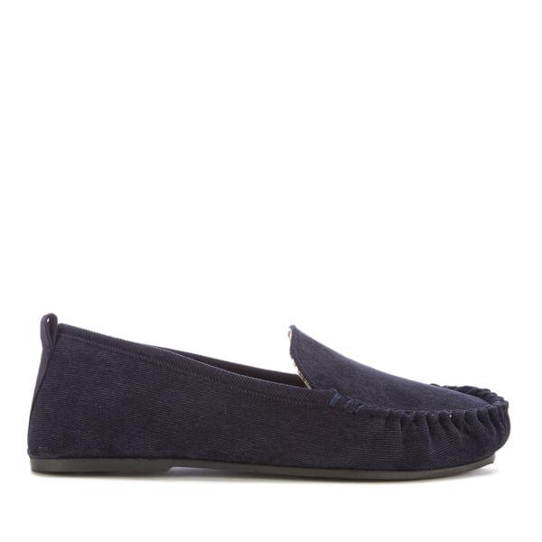 Dunlop Men's Adrien Moccasin Slippers - Navy