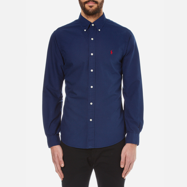 dark blue ralph lauren shirt