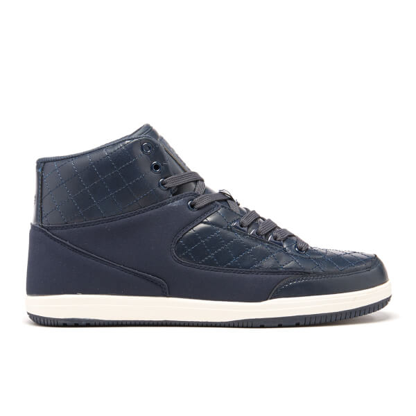 Crosshatch Men's Vonleh High Top Trainers - Navy Blazer
