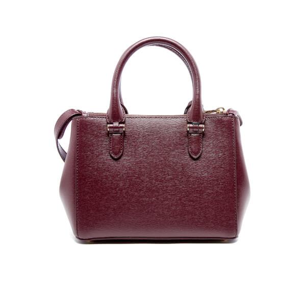 Lauren Ralph Lauren Women\u0027s Newbury Mini Double Zip Satchel Bag - Claret:  Image 6