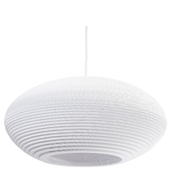 Graypants Disc Pendant - 20 Inch - White