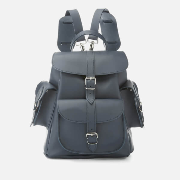 Grafea Women's Midnight Medium Leather Backpack - Blue