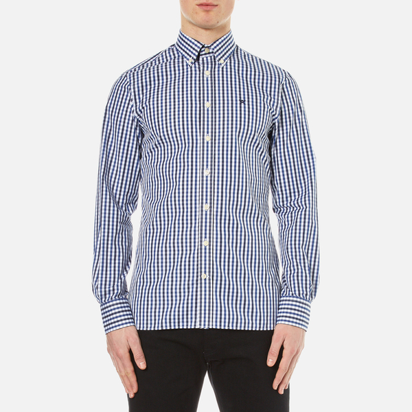 Hackett London Men's Classic Check Shirt - Navy