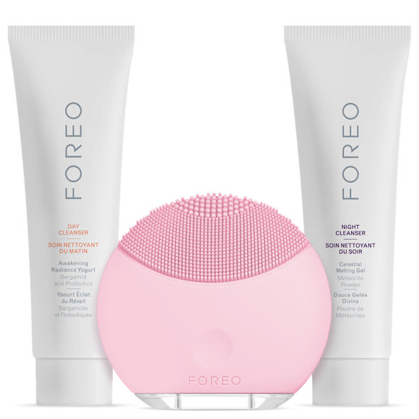 FOREO Holiday Cleansing Collection - (LUNA Mini) Petal Pink (Worth £123)