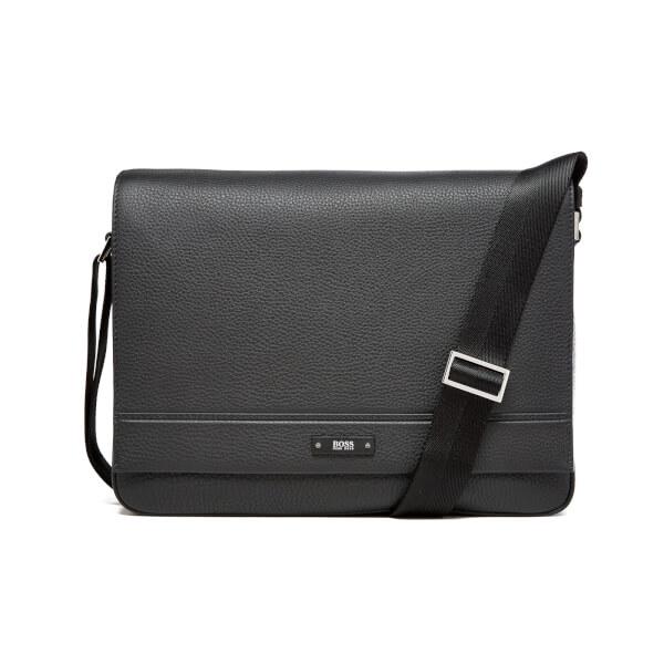 BOSS Hugo Boss Men's Traveller Mess Flap Messenger Bag - Black