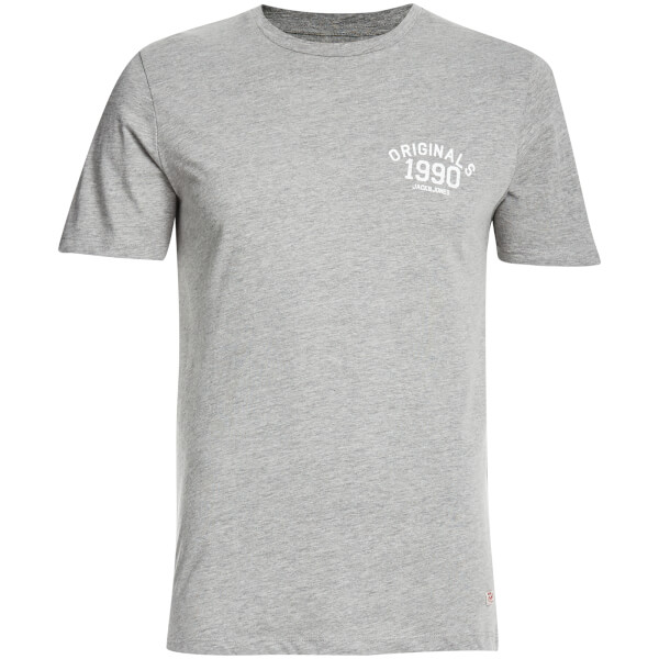 Jack & Jones Men's Originals Lights T-Shirt - Light Grey Melange
