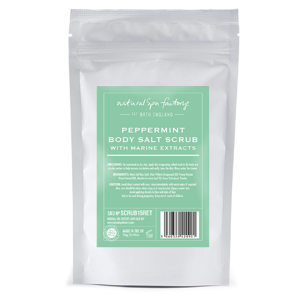 Natural Spa Factory Peppermint Body Salt Scrub