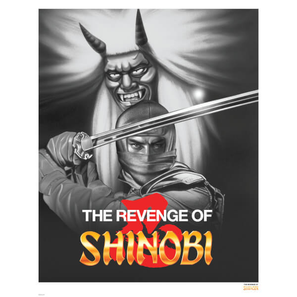 Revenge of Shinobi - Black and White Variant Limited Edition Giclee Art Print - Timed Sale