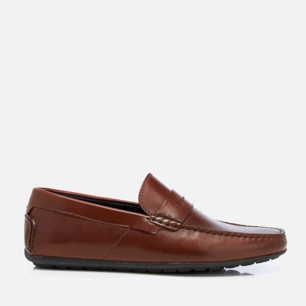 HUGO Men's Dandy Leather Driving Shoes - Light/Pastel Brown