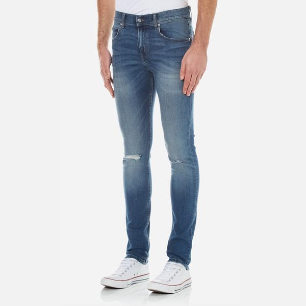 Cheap Monday Men's Tight Skinny Fit Jeans - Serene Blue Mens ...