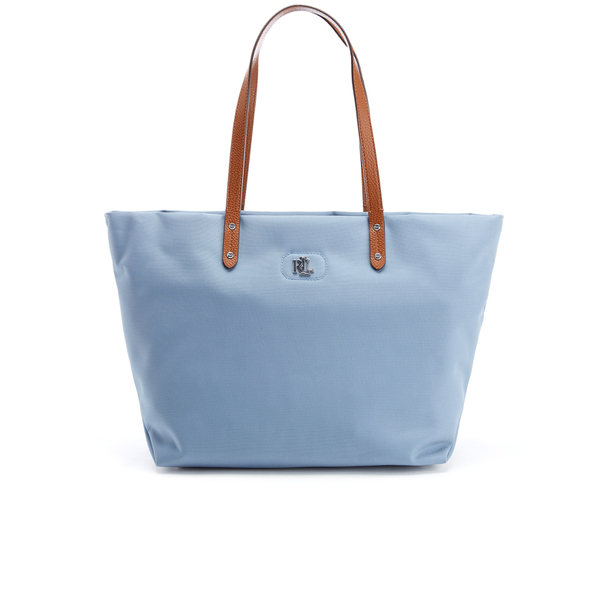 ecc42287e6 Lauren Ralph Lauren Women s Bainbridge Nylon Tote Bag - Blue Mist  Image 1