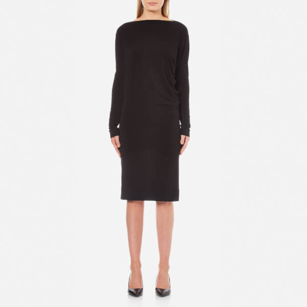 By Malene Birger Women's Finae Long Sleeve Midi Dress - Black