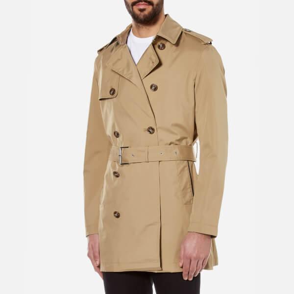 Michael Kors Men s Nylon Trench Coat - Beige Clothing  0f162aa1c9