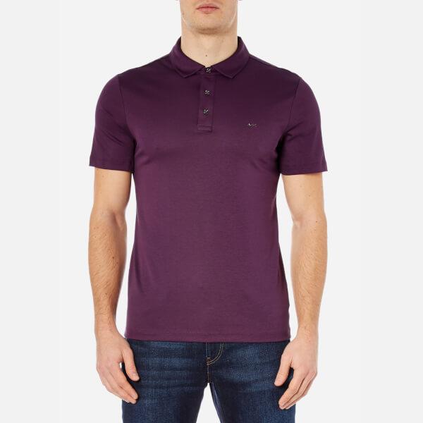 michael kors men 39 s sleek mk polo shirt blackberry