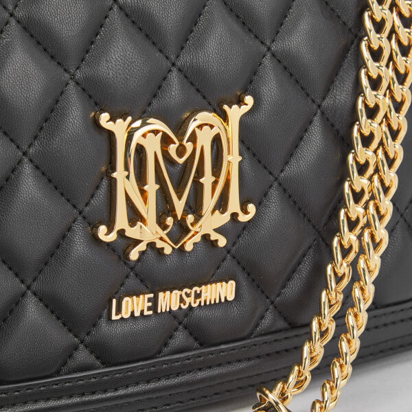 Love Moschino Women S Quilted Chain Tote Bag Black