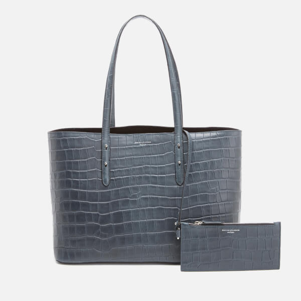 Aspinal of London Women's Regent Croc Tote Bag - Blue