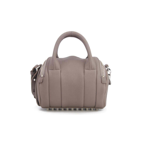 3a8880b3ee04 Alexander Wang Women s Mini Rockie Pebbled Leather Stud Detail Bowler Bag -  Mink Grey  Image