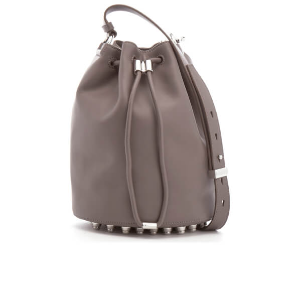 Alexander Wang Women's Alpha Soft Leather Bucket Bag - Mink Grey