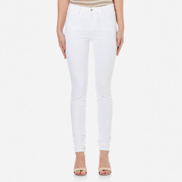 J Brand Women's Maria High Rise Skinny Jeans - White