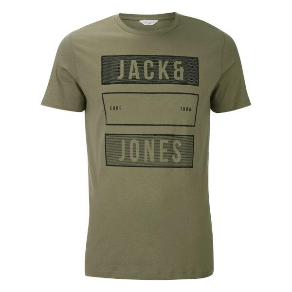 Jack & Jones Men's Core Trevor T-Shirt - Deep Green